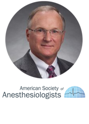 American Society of Anesthesiologists logo and staff member headshot