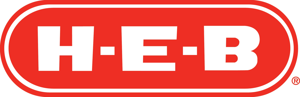 HEB Texas grocery store logo