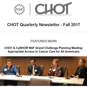 CHOT Fall 2017 quarterly newsletter screen capture
