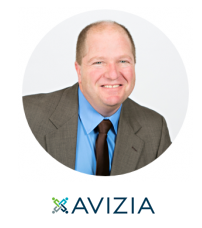 Robert Bernstein headshot and Avizia company logo