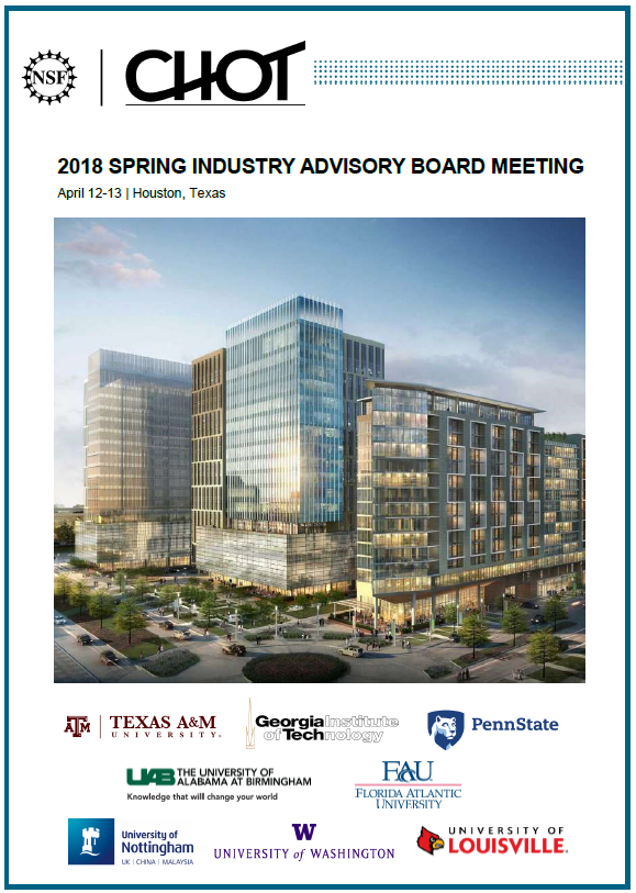 Spring 2018 IAB Meeting Final Meeting Booklet