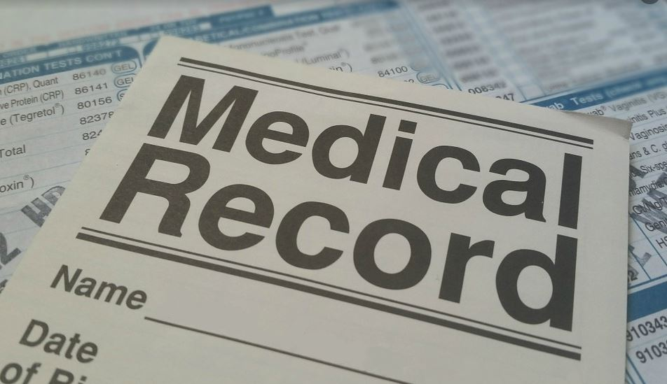 Health record stock photo